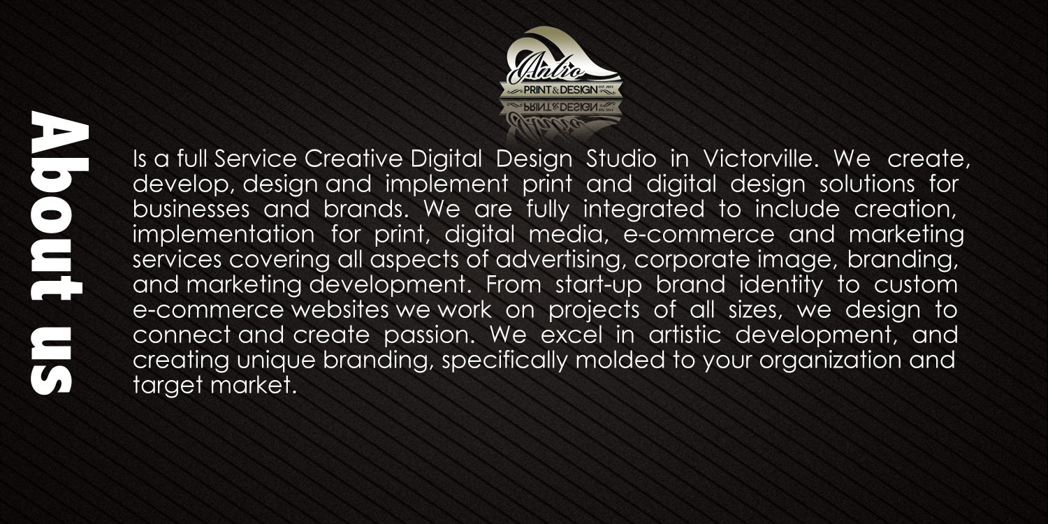 Antro Design Print About Us